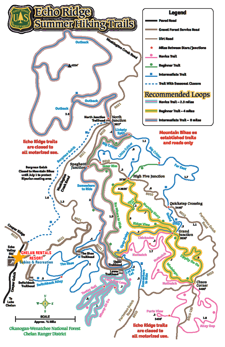 Echo Valley Mountain Bike Trail Map